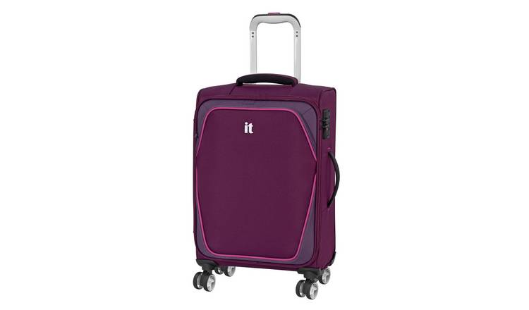 it Luggage Expandable 8 Wheel Soft Cabin Suitcase - Purple