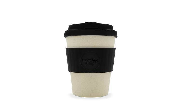 Ecoffee Cup Black & White Matt Travel Mug - 340ml