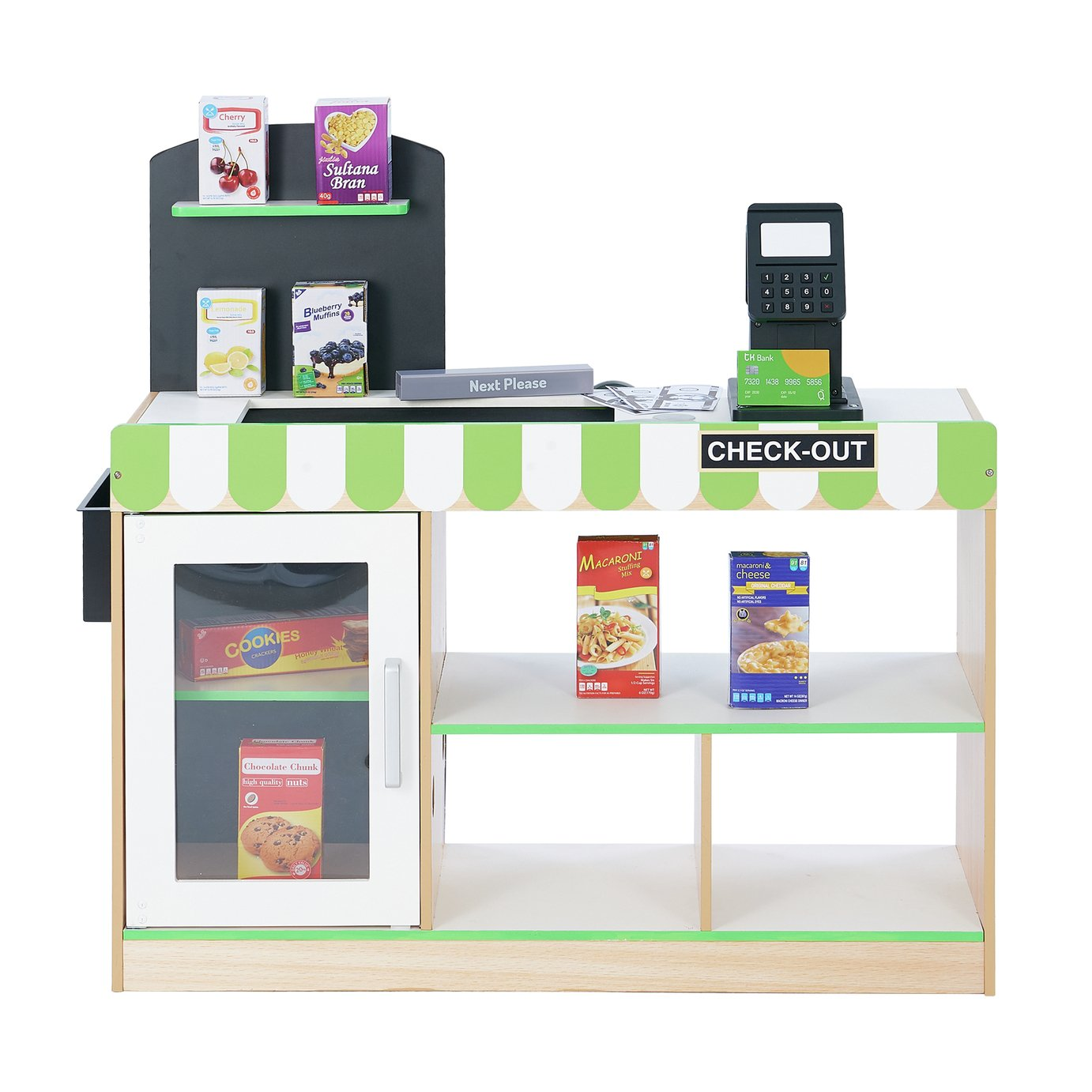 Interactive Wooden Grocery Play Supermarket Shop