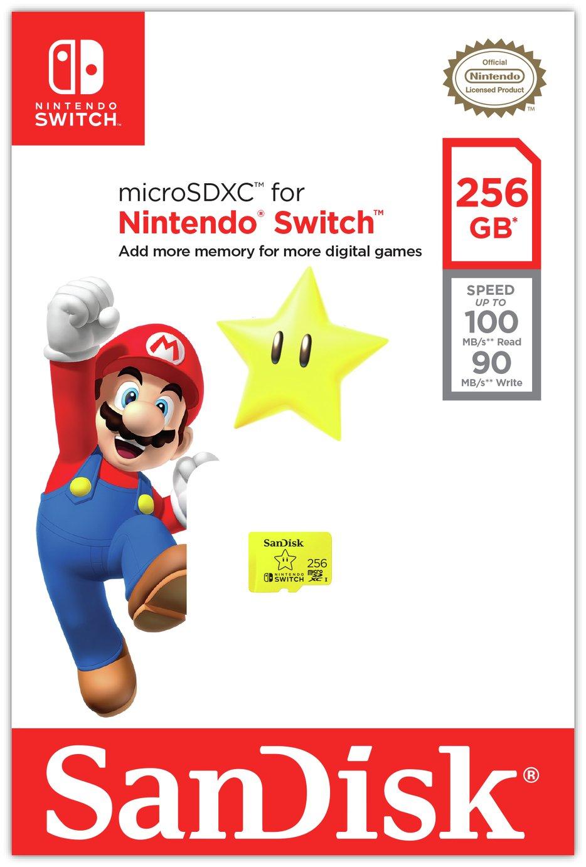 SanDisk 100MBs MicroSDXC Card for Nintendo Switch - 256GB