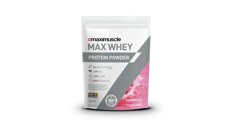 Maximuscle Strawberry Whey Protein Powder - 480g