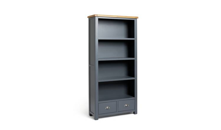 Habitat Kent 2 Drawer Bookcase - Grey