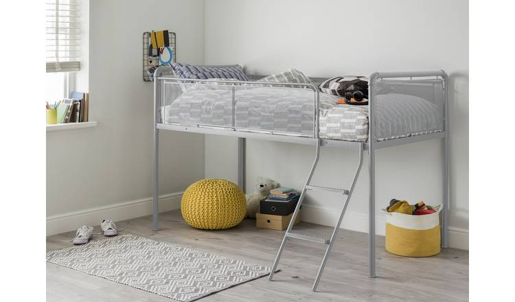 Argos Home Maddox Mid Sleeper Metal Bed Frame - Grey