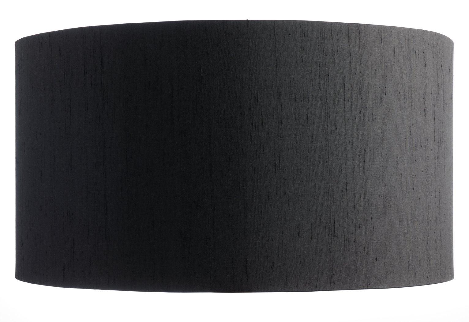 Habitat 49cm Drum Silk Shade - Black