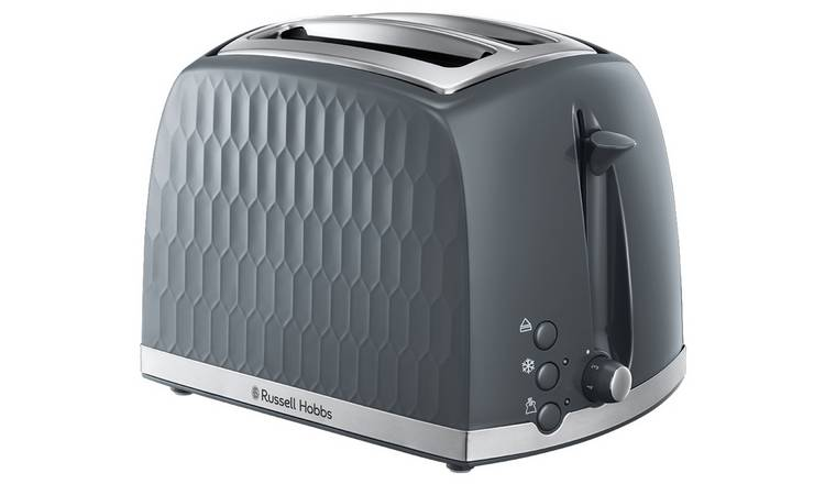 Russell Hobbs 26063 Honeycomb 2 Slice Toaster - Grey