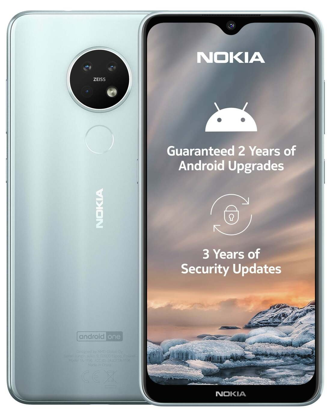 SIM Free Nokia 7.2 64GB Mobile Phone - Ice
