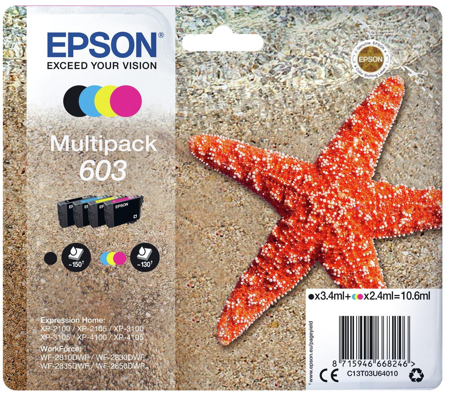 Epson 603 Starfish Ink Cartridge - Black & Colour