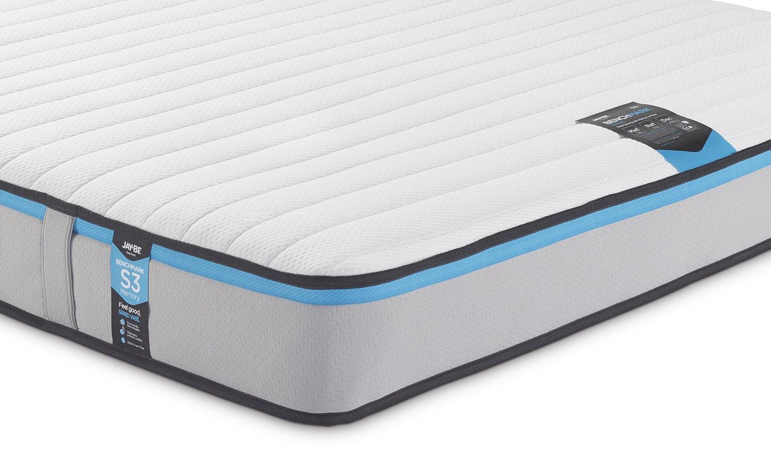 Jay-Be Benchmark S3 Memory Eco Friendly Sml Double Mattress