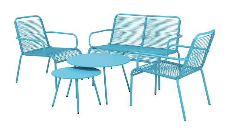 Buy Argos Home Ipanema 4 Seater Rattan Effect Sofa Set Blue Patio Sets Argos