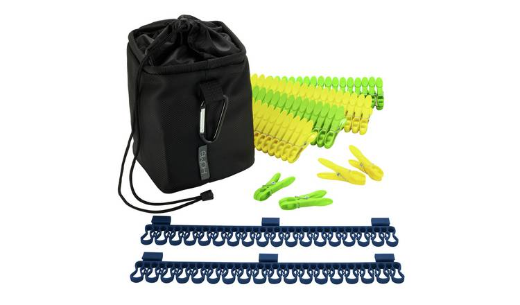 Argos Home Peg Bag with 80 Pegs & 2 Sock Clips