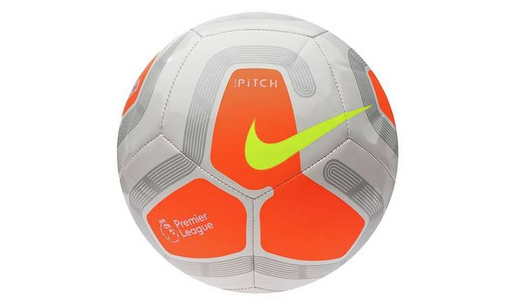 Nike Premier League Pitch Size 5 Football - White and Orange