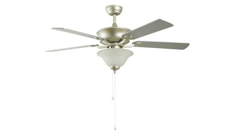 Argos Home Uplighter Ceiling Fan - Satin Nickel