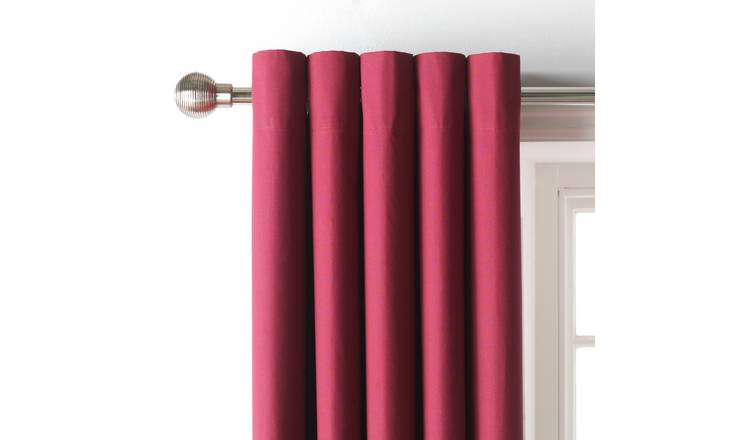 Argos Home Blackout Eyelet Curtain - Berry