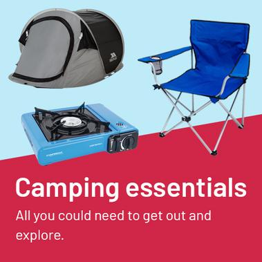 Camping essentials. All you need to get out and explore.
