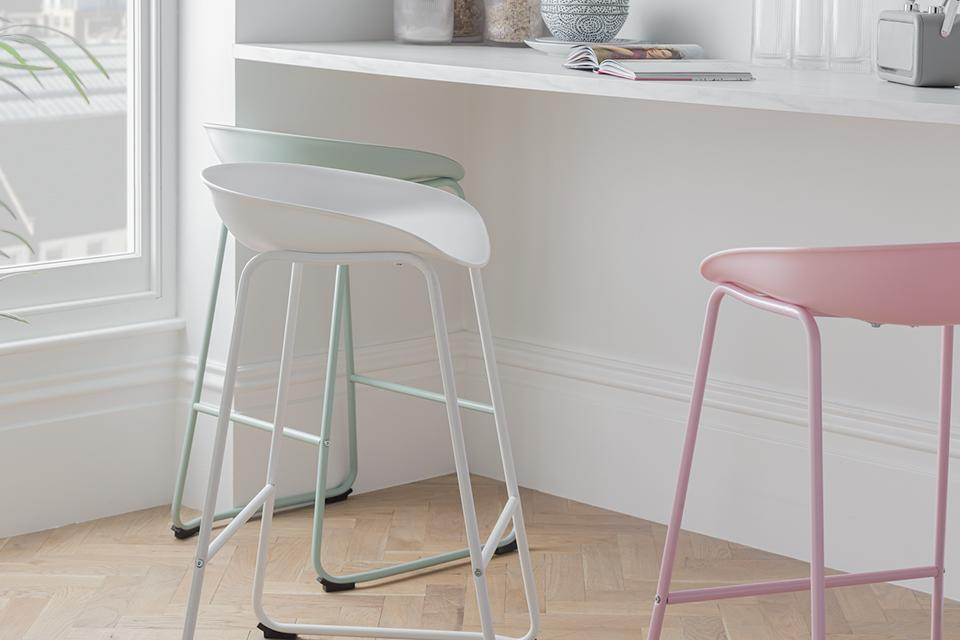 Argos Home Nexa Bar Stool - White.
