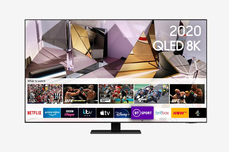 "Samsung 55"" Smart True 8K QLED TV with HDR."