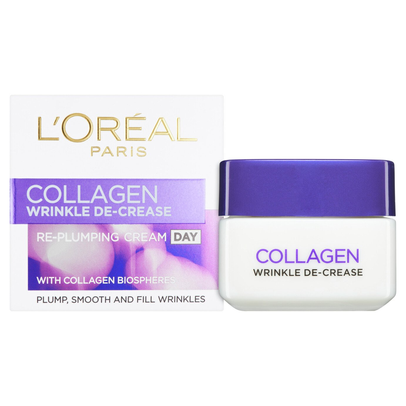 L'Oreal Collagen Wrinkle De-Crease Day Cream - 50ml