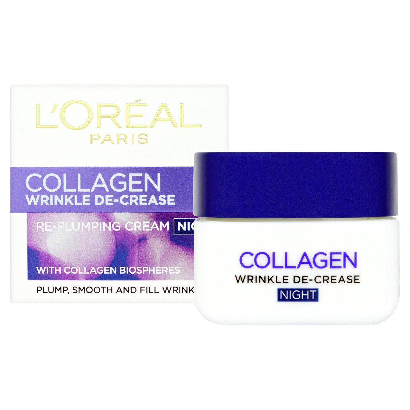 L'Oreal Collagen Wrinkle Night Cream - 50ml