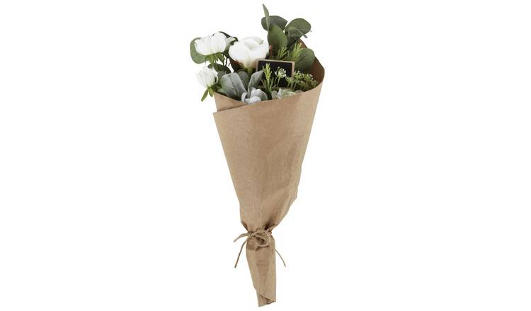 Argos Home Artificial Classic Bouquet - White