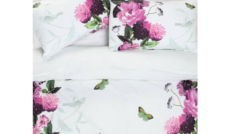 Argos Home Mint Peony Bedding Set - Double