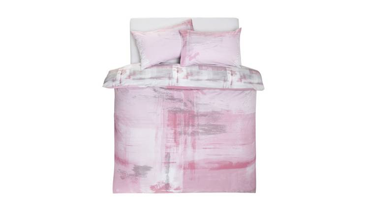 Argos Home Blush Brush Stroke Bedding Set - Superking