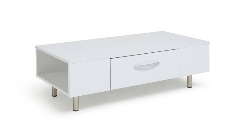 Argos Home Hayward 1 Drawer Coffee Table - White Gloss