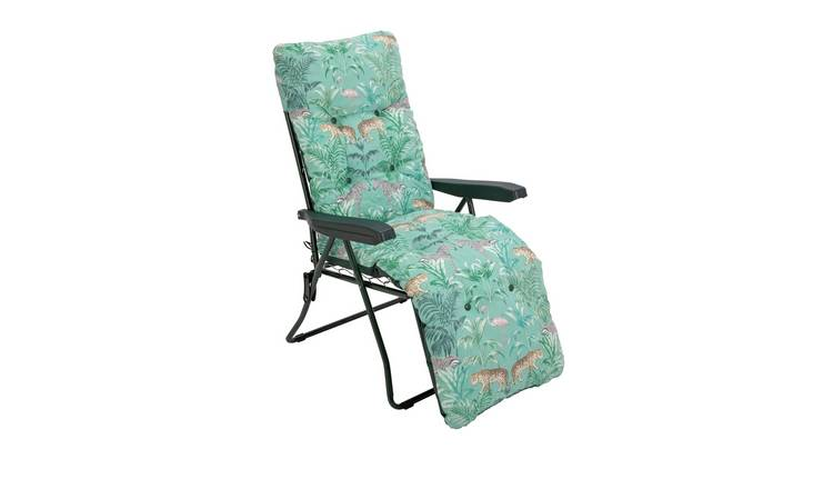 Argos Home Metal Folding Relaxer Chair - Wilderness Jungle
