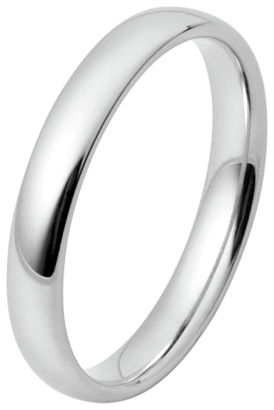 Inara Rhodium  Plated Ceramic 3mm Stacking Ring
