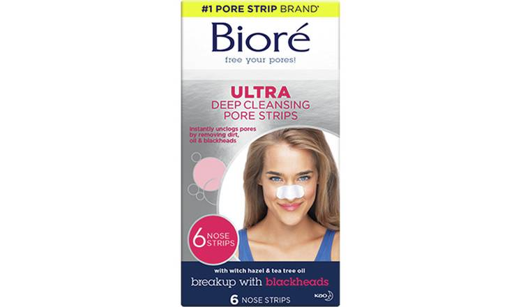 Bioré Deep Cleansing Ultra Pore Strips x 6 Nose Strips
