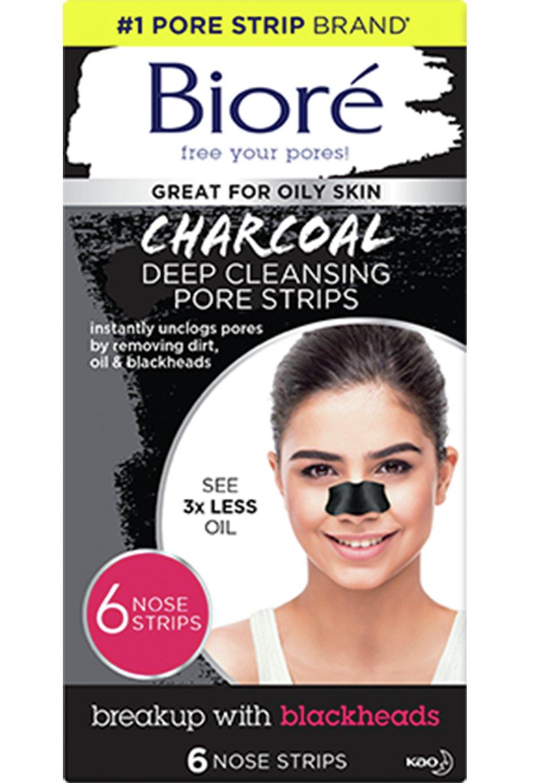 Bioré Deep Cleansing Charcoal Pore Strips x 6 Nose Strips