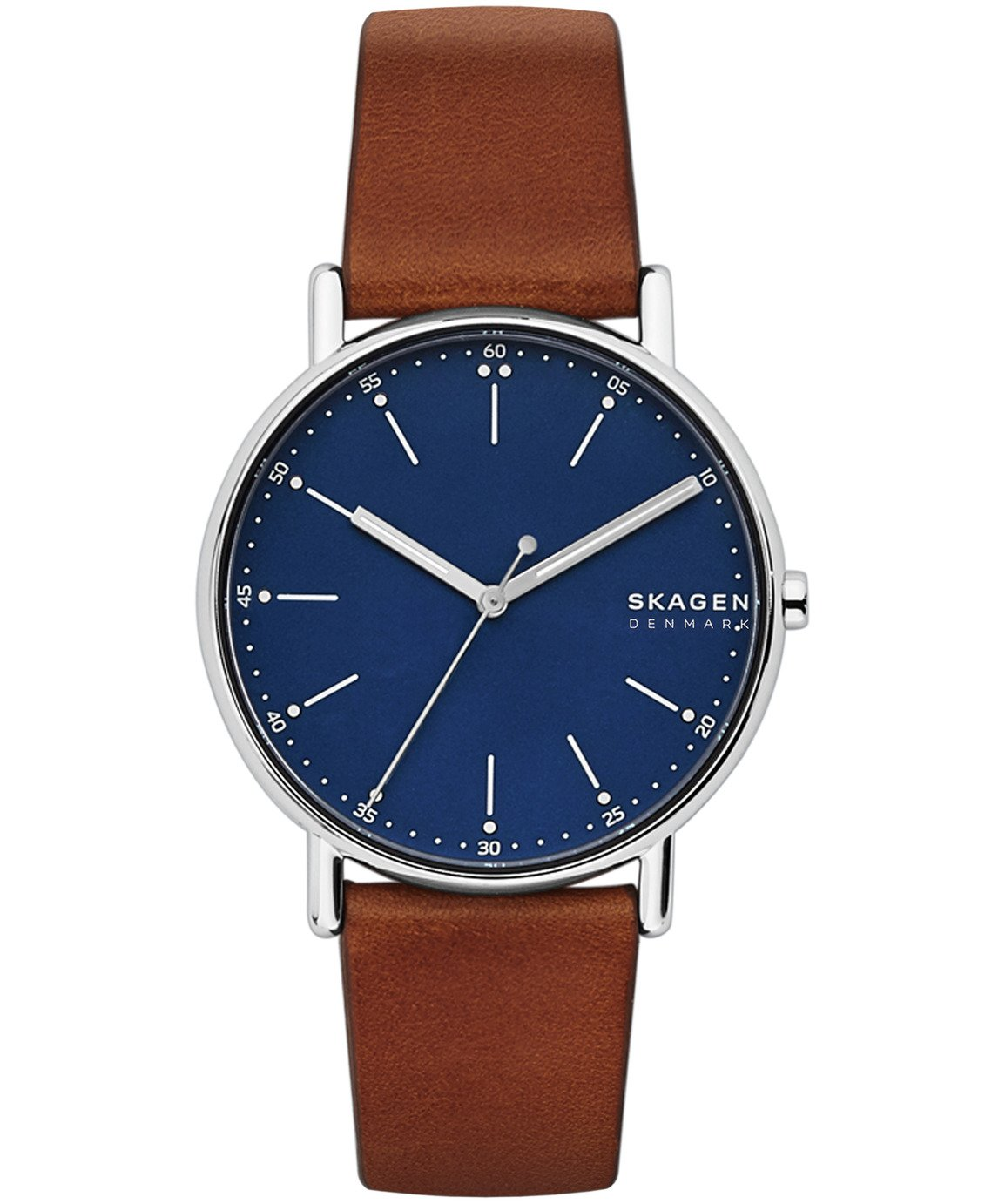 Skagen Men's Signiture brown Leather Strap Watch