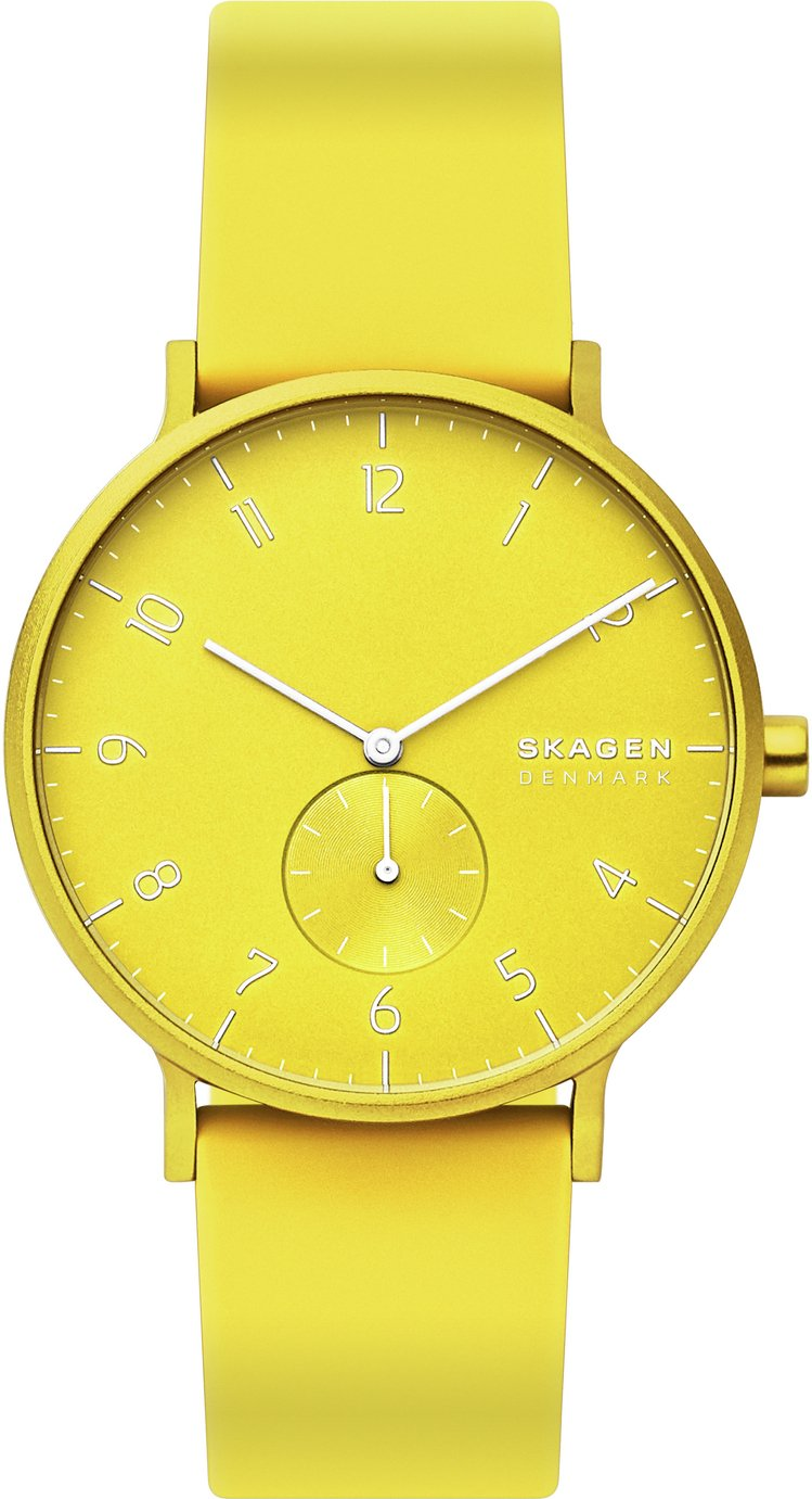Skagen Kulor Neon Yellow Silicone Strap Watch
