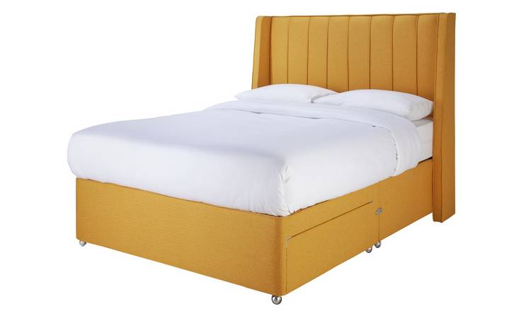 Sleepeezee Hybrid 2000 2 Drawer Double Divan Set - Mustard