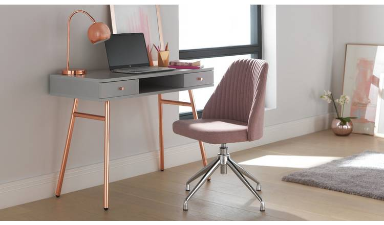 Buy Argos Home Nori Fabric Office Chair Pink Office Chairs Argos