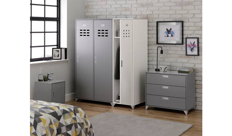 Argos Home Loft Locker 2 Door Wardrobe - Grey