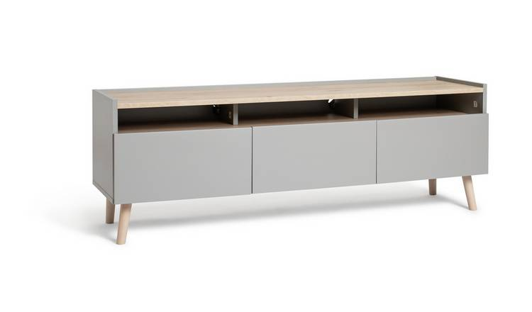 Habitat Skandi 3 Drawer TV Unit - Grey Two Tone