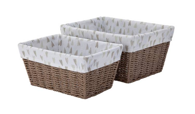 Argos Home Set of 2 Heart Baskets