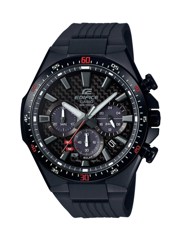 Casio Men's Edifice Chronograph Black Resin Strap Watch