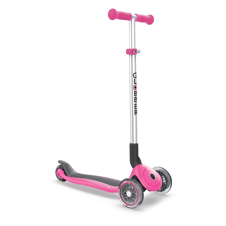 Globber Primo Folding Scooter - Deep Pink