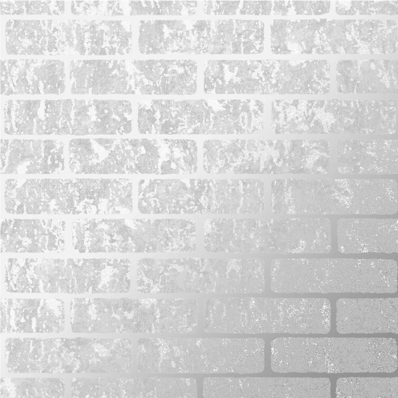 Superfresco Milan Brick Silver Wallpaper