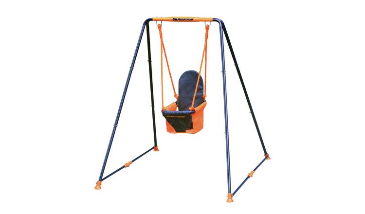 Hedstrom Fast Fold Toddler Swing - Blue and Orange