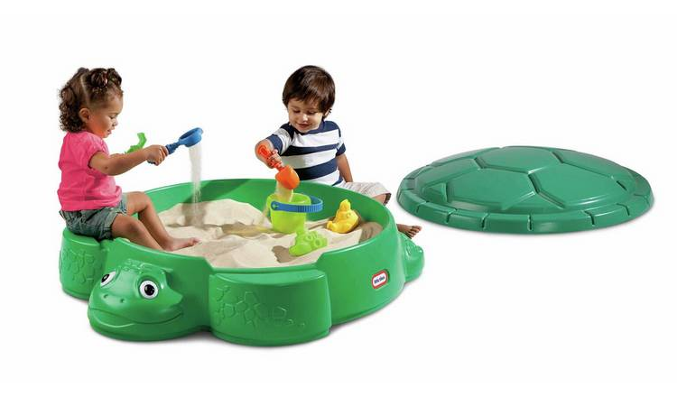 Little Tikes Turtle Sand Pit with Cover