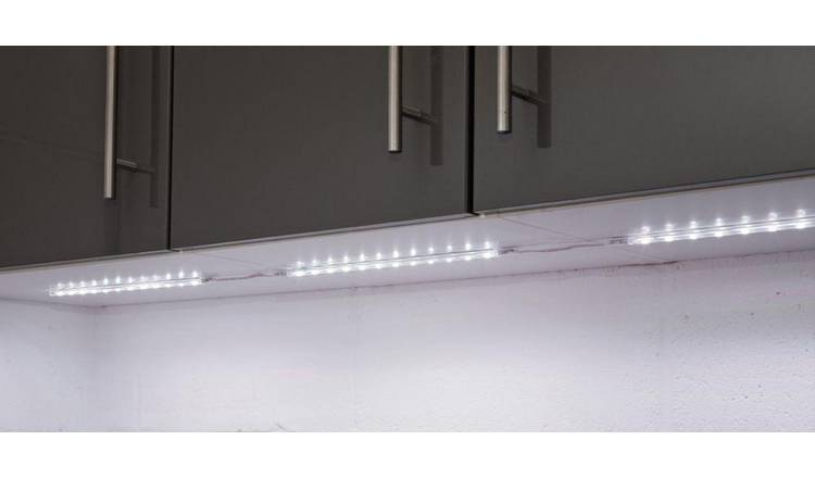 Buy Argos Home Atollo Set Of 4 Led Strip Lights White Ceiling Lights Argos