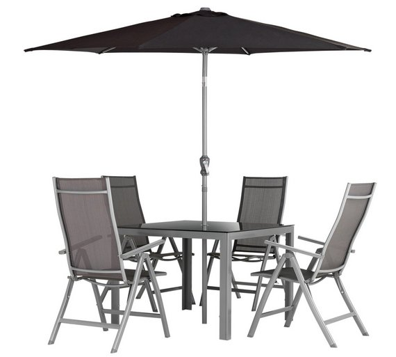 collection malibu 4 seater steel patio set - Garden Furniture 4 Seater