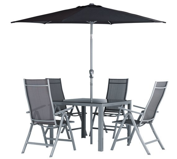 Argos Metal Garden Table And Chairs: Buy Collection Malibu 4 Seater Steel Patio Set At Argos.co