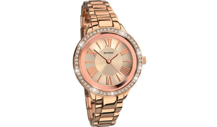 98320b6d41b4 Sekonda Editions Ladies' Rose Gold Colour Bracelet Watch314/4169