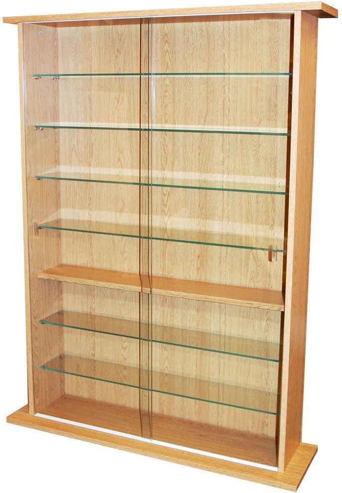 Large Display Media Cabinet - Beech.