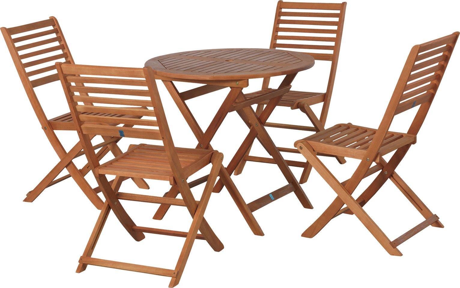 172 & Buy Argos Home Newbury 4 Seater Wooden Patio Set | Patio sets | Argos