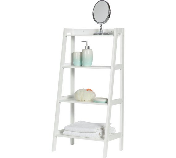 Buy collection ladder storage unit at your online shop for bathroom shelves and - Storage units for small spaces collection ...