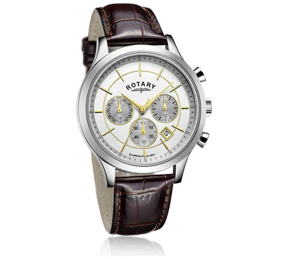 buy rotary men s two tone brown strap watch at argos co uk your rotary men s two tone brown strap watch314 8079